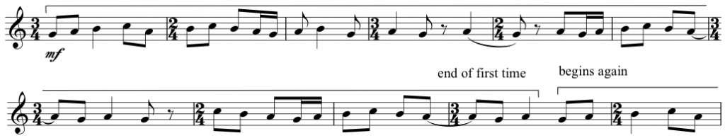 Example 9 - Three Pieces for Violin